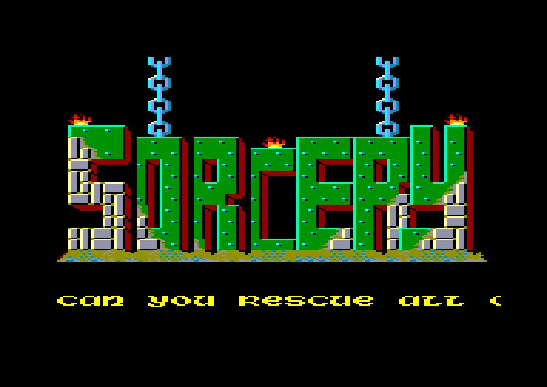 screenshot of the Amstrad CPC game Sorcery