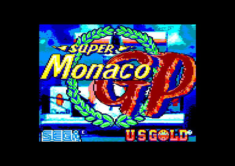 screenshot of the Amstrad CPC game Super Monaco Grand Prix