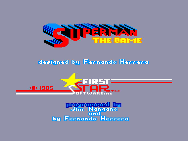 screenshot of the Amstrad CPC game Superman - The Game