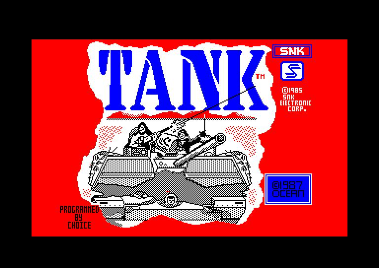 screenshot of the Amstrad CPC game Tank