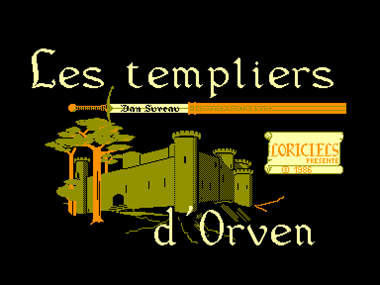 screenshot of the Amstrad CPC game Templiers d'Orven (les)