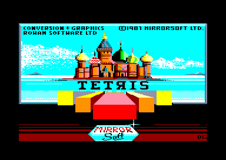 screenshot of the Amstrad CPC game Tetris