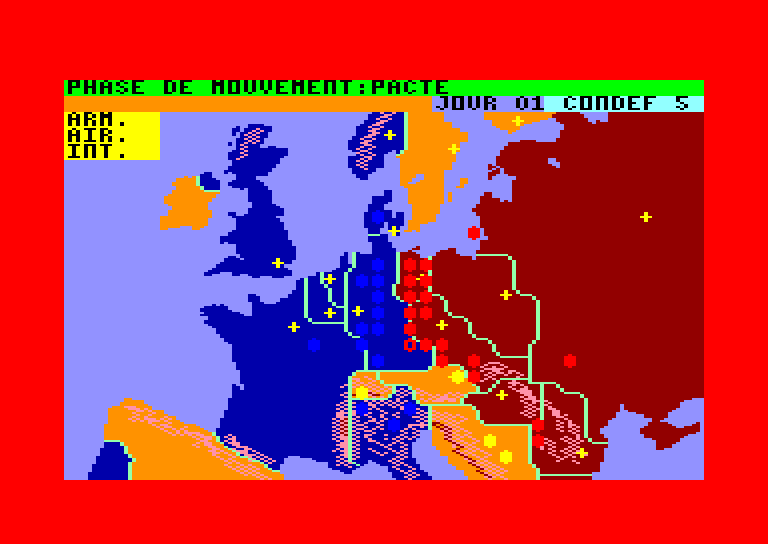 screenshot of the Amstrad CPC game Theatre Europe
