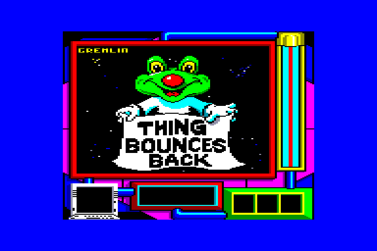 screenshot of the Amstrad CPC game Thing bounces back