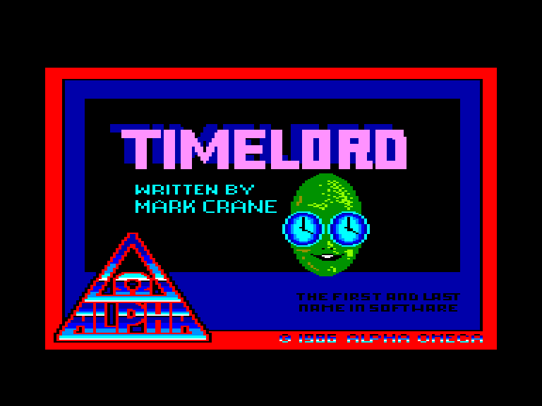 screenshot of the Amstrad CPC game Timelord