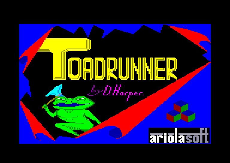 screenshot of the Amstrad CPC game Toad Runner