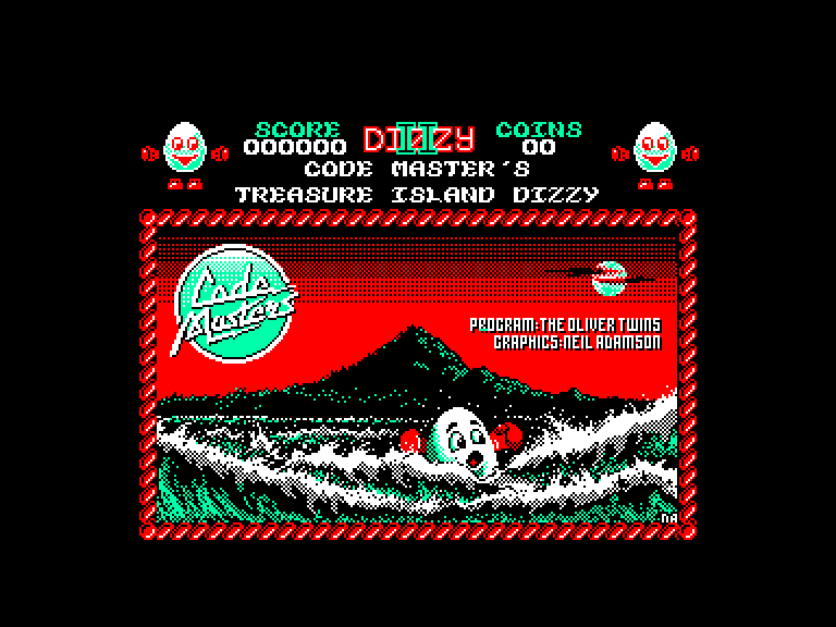 screenshot du jeu Amstrad CPC Dizzy II - Treasure Island Dizzy