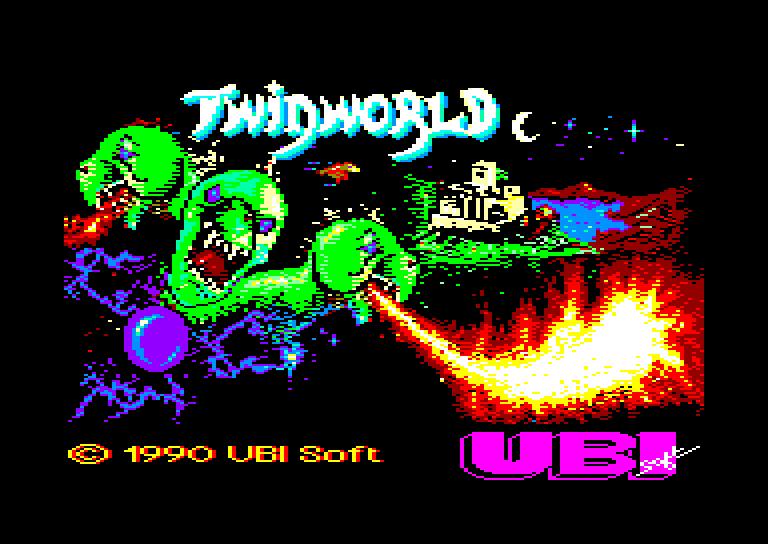 screenshot of the Amstrad CPC game Twinworld