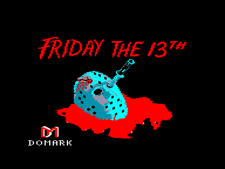 screenshot of the Amstrad CPC game Friday the 13th