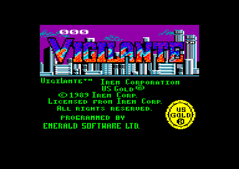 screenshot of the Amstrad CPC game Vigilante