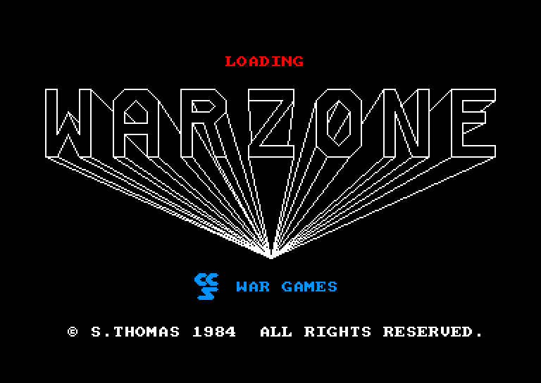 screenshot of the Amstrad CPC game War Zone