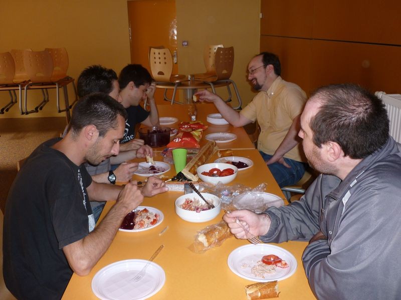 first meal of the ReSeT #0 meeting at Coutances (France)
