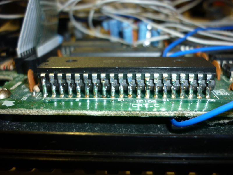 2 CRTC inside of a modded Amstrad CPC