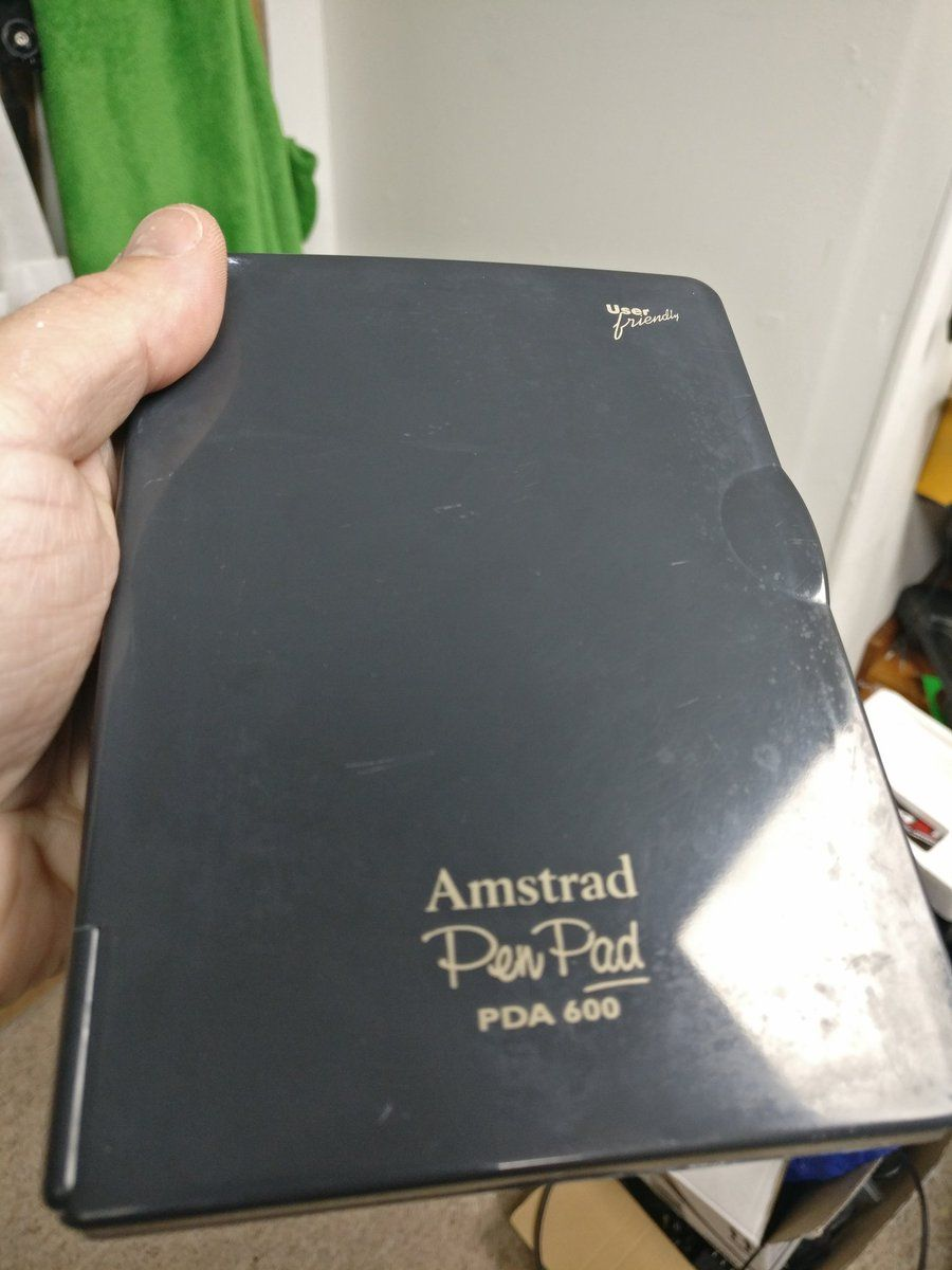front of the Amstrad PDA600 cleaned by the BackOffice