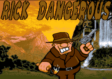loading screen of Rick Dangerous 128+