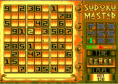 playing screen of Sudoku Master